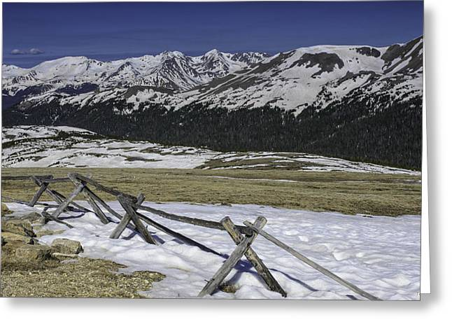 Rocky Mountain Gorge Greeting Card by Tom Wilbert