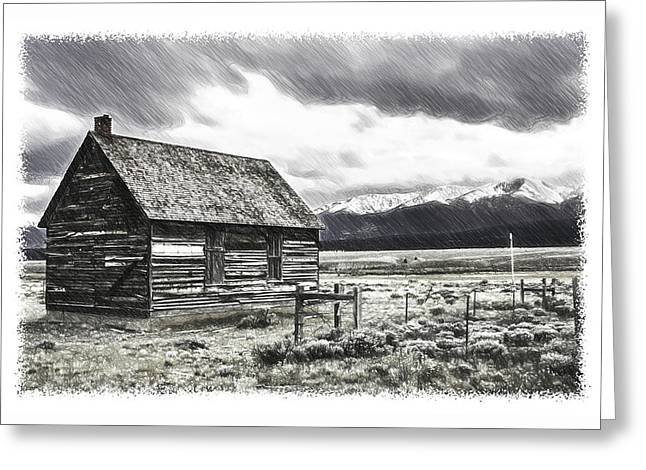 Rocky Mountain Past Greeting Card
