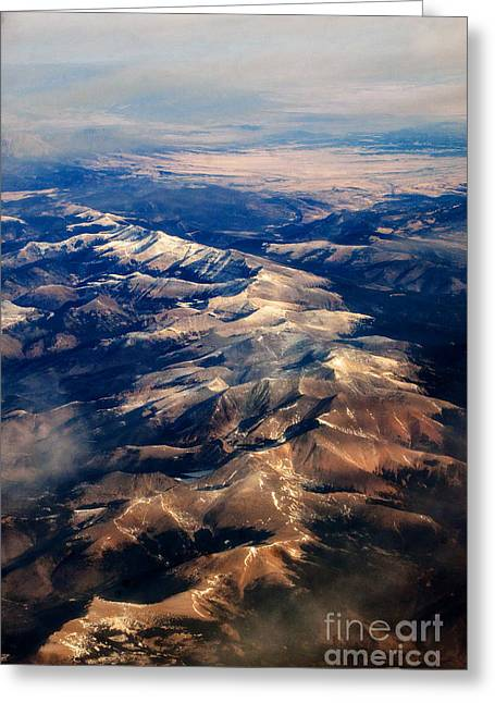 Rocky Mountain Peaks From Above Greeting Card by Darleen Stry