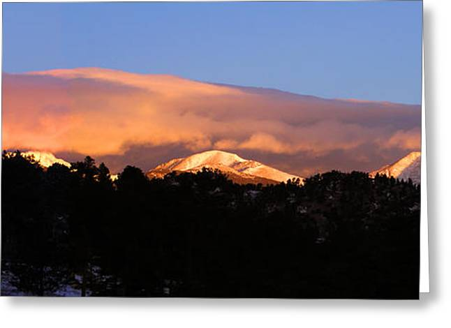 Greeting Card featuring the photograph Rocky Mountain Sunrise by Craig T Burgwardt