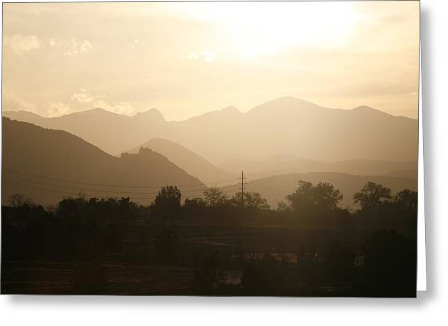 Rocky Mountain Sunset 1 Greeting Card by Marilyn Hunt