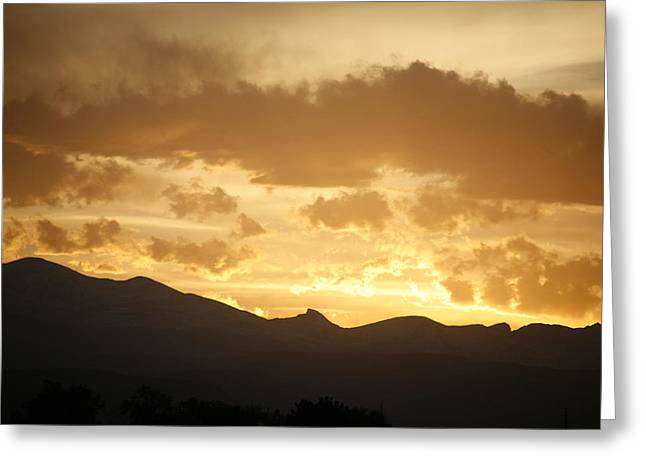 Rocky Mountain Sunset 2 Greeting Card by Marilyn Hunt