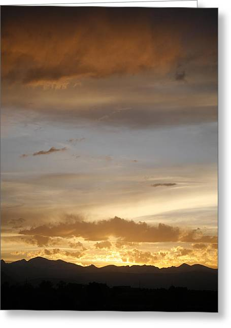 Rocky Mountain Sunset 3 Greeting Card by Marilyn Hunt