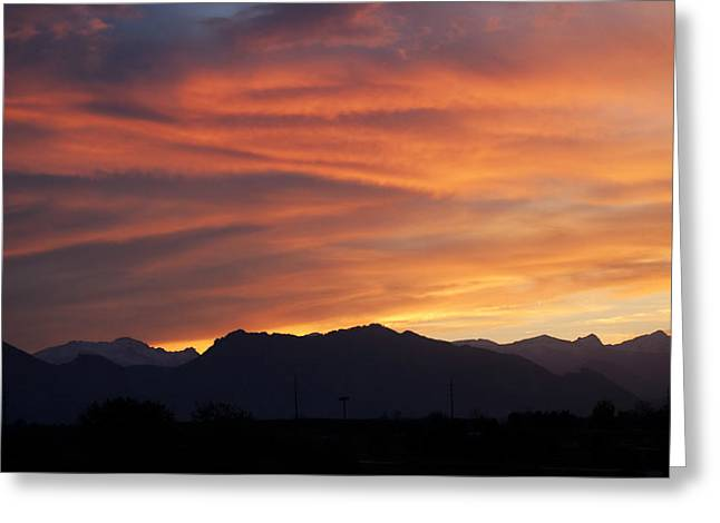 Rocky Mountain Sunset Greeting Card by Marilyn Hunt