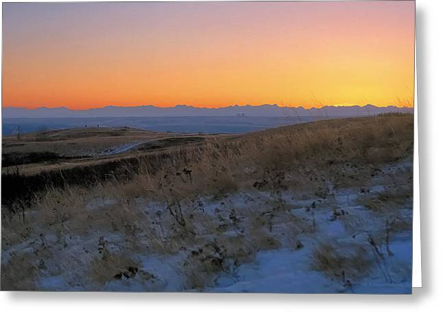 Rocky Mountain Sunset Greeting Card