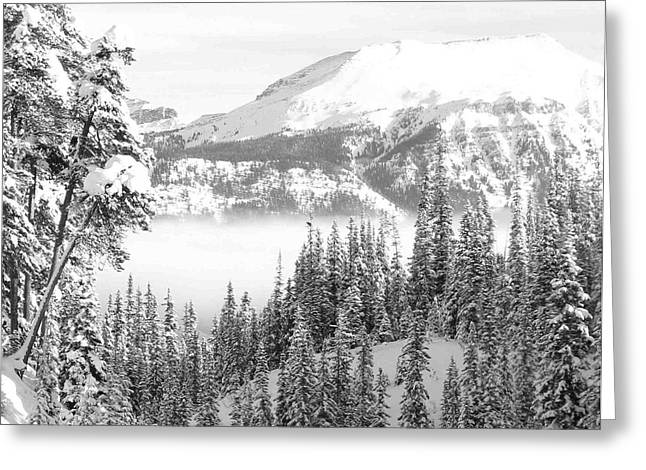 Rocky Mountain Vista Greeting Card by Cheryl Miller