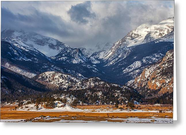 Rocky Mountain Weather Greeting Card by Darren  White