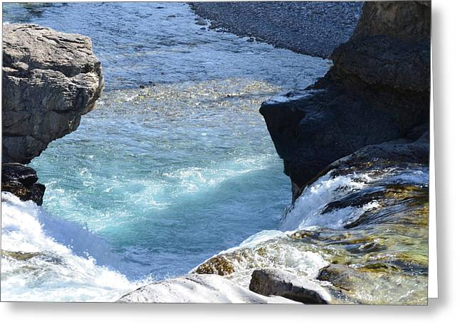 Elbow Falls Water  1.1 Greeting Card by Cheryl Miller