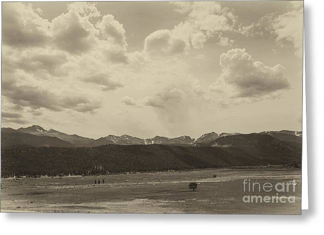 Rocky Mountains Front Range Greeting Card by Kay Pickens