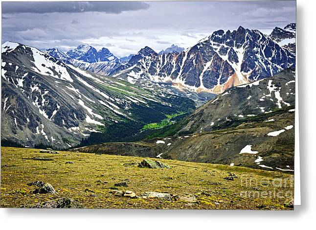Rocky Mountains in Jasper National Park Greeting Card by Elena Elisseeva