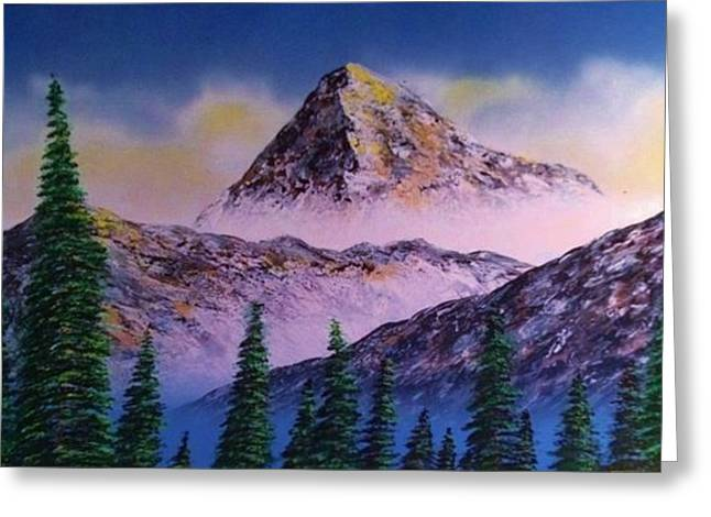 Greeting Card featuring the painting Rocky Mountains by Michael Rucker
