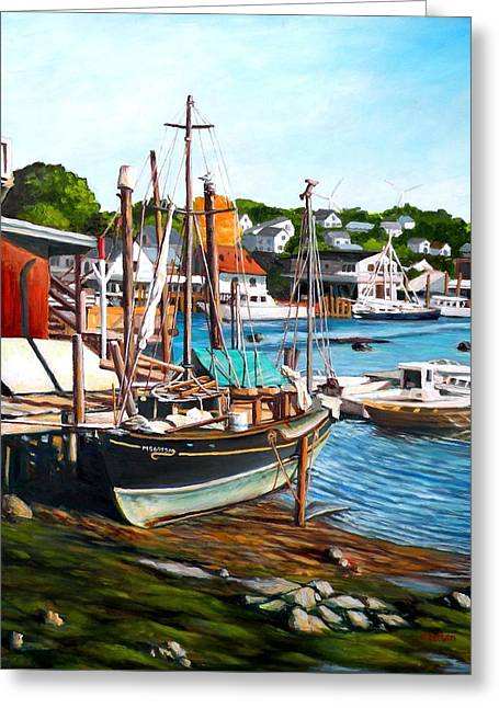 Rocky Neck October Greeting Card