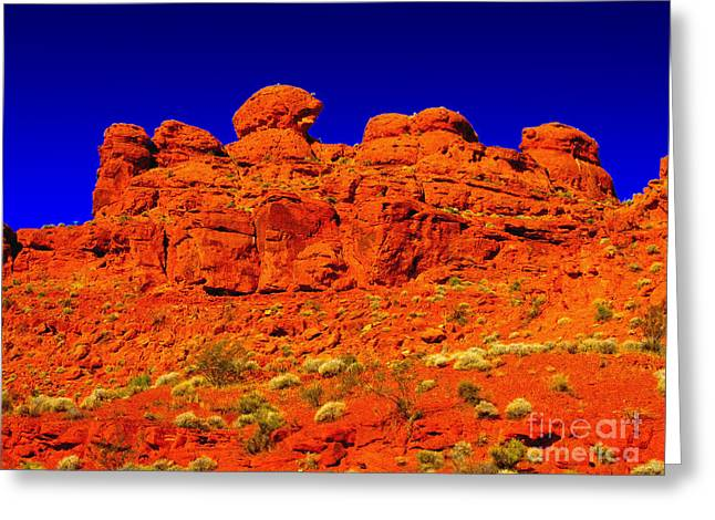 Greeting Card featuring the photograph Rocky Outcrop by Mark Blauhoefer