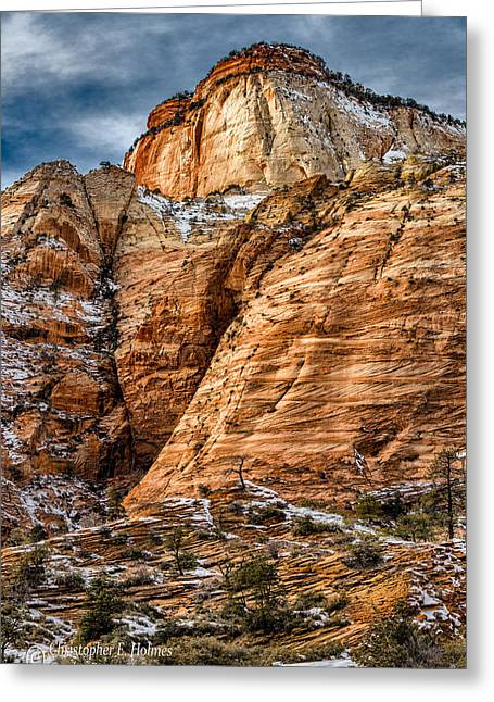 Rocky Peak Greeting Card by Christopher Holmes