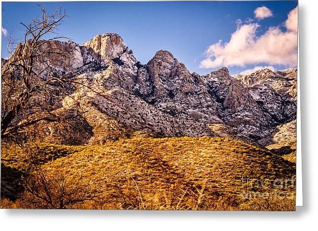 Greeting Card featuring the photograph Rocky Peaks by Mark Myhaver