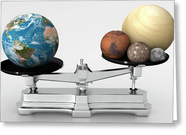 Rocky Planets' Mass Compared To Earth Greeting Card