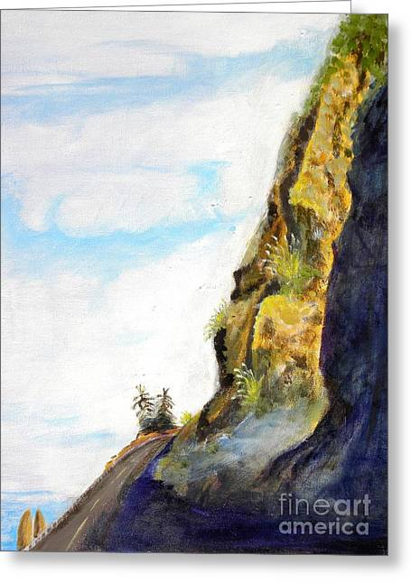 Rocky Point At Big Sur Ca Greeting Card by Susan Lee Clark