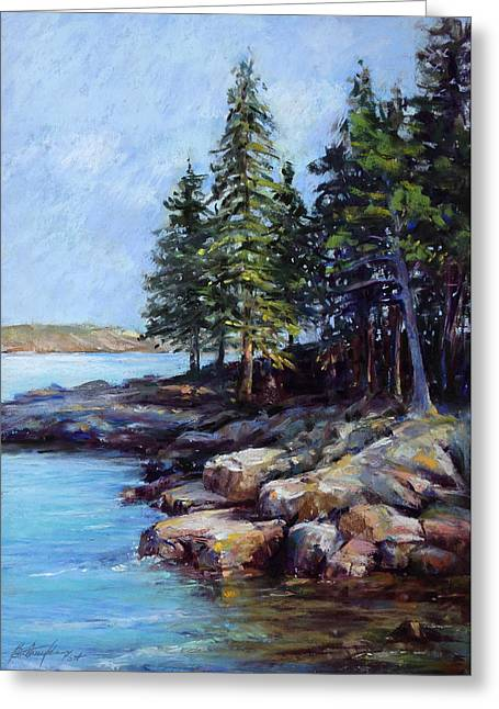 Rocky Point Greeting Card by Beverly Amundson