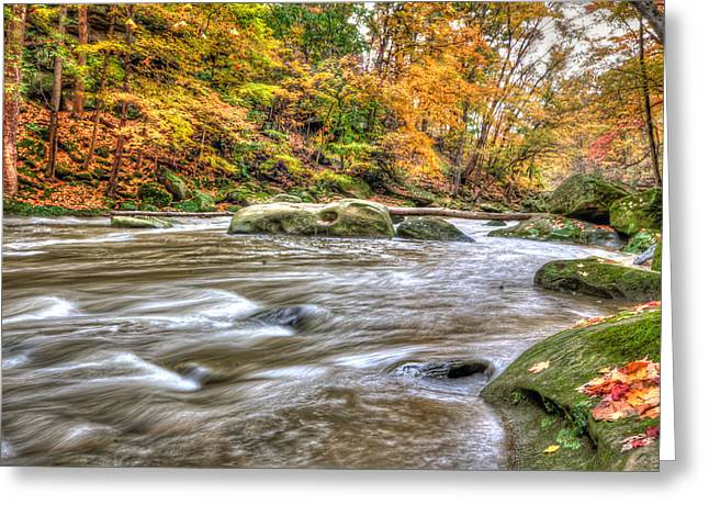 Rocky River Greeting Card by Brent Durken