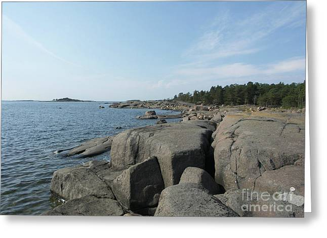 Rocky Seashore 2 In Hamina  Greeting Card