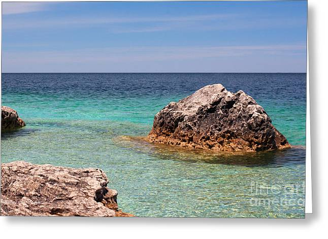 Rocky Shoals Of Tobermory Greeting Card