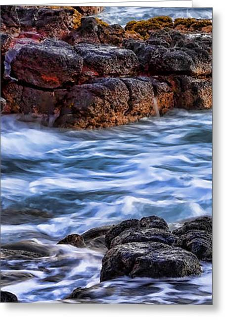 Rocky Shore Left Greeting Card by Kelley King