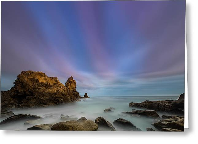Rocky Southern California Beach 2 Greeting Card by Larry Marshall
