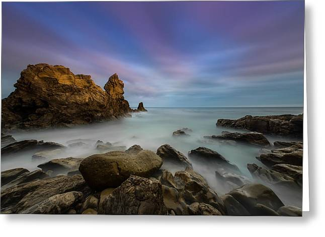 Rocky Southern California Beach Greeting Card by Larry Marshall