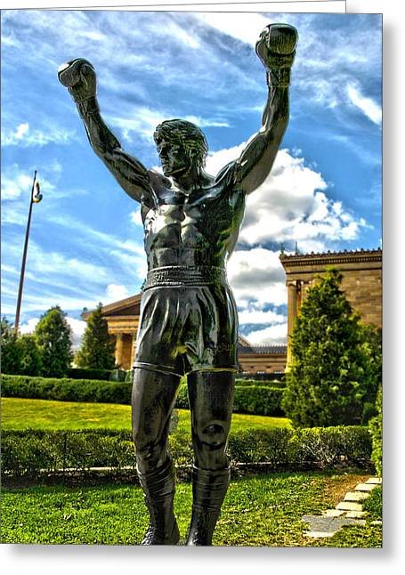 Rocky Statue Greeting Card by Frank Savarese