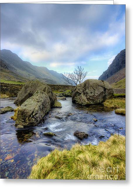 Rocky Stream  Greeting Card by Ian Mitchell