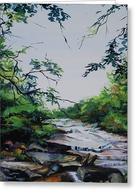 Rocky Stream Greeting Card