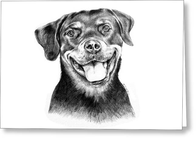 Rocky The Rottweiler Greeting Card
