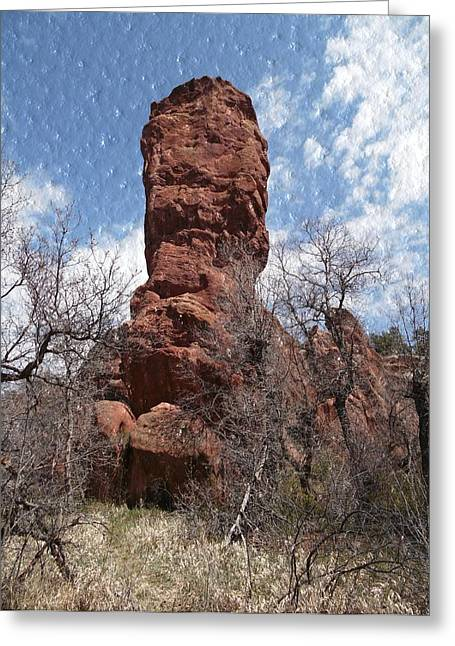 Rocky Totem Greeting Card