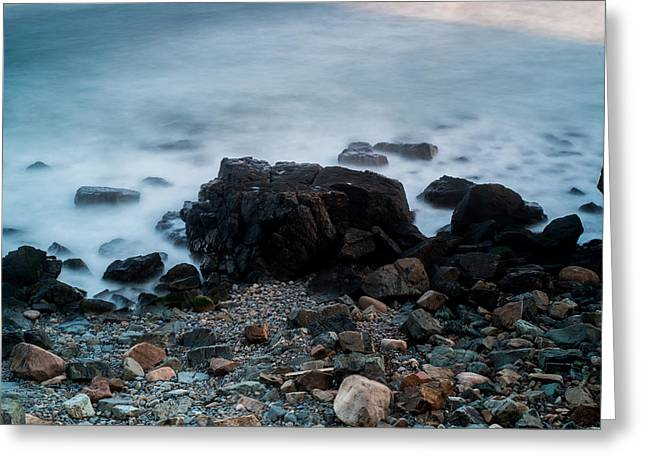 Rocky Water Greeting Card by Allan Johnson