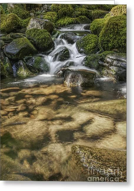 Rocky Waterfall Greeting Card