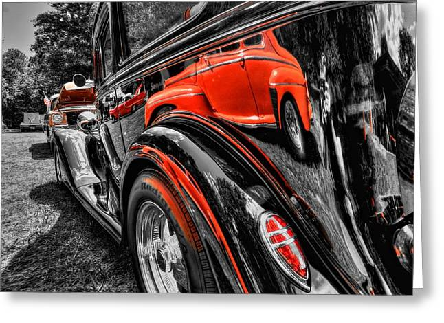 Rod Reflections Greeting Card by Lance Vaughn