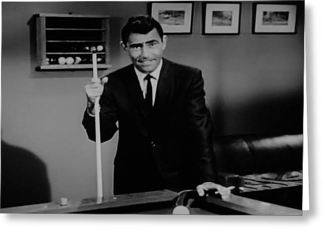Rod Serling Greeting Card by Rob Hans