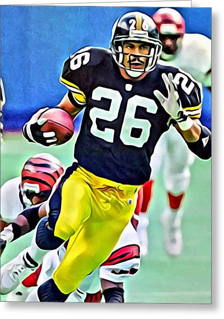 Rod Woodson Greeting Card by Florian Rodarte