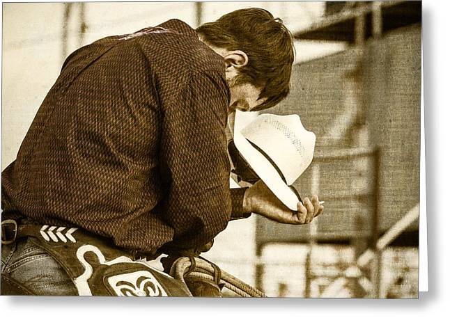 Rodeo Cowboy Prayer Greeting Card