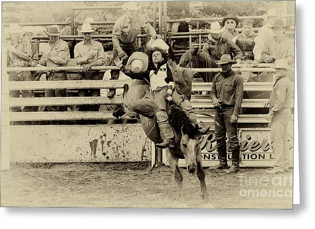 Rodeo Every Move He Makes Greeting Card