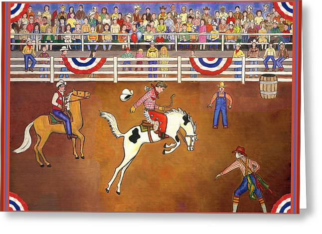 Rodeo One Greeting Card by Linda Mears