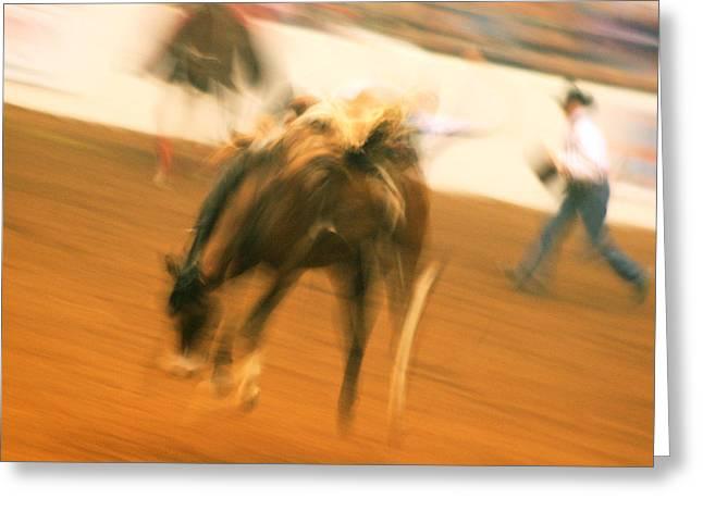 Rodeo Greeting Card by Paulette Maffucci
