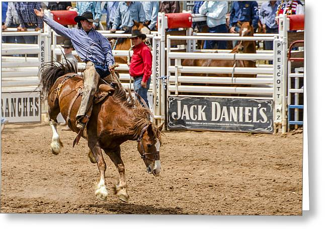 Rodeo Ride Greeting Card by Jon Berghoff