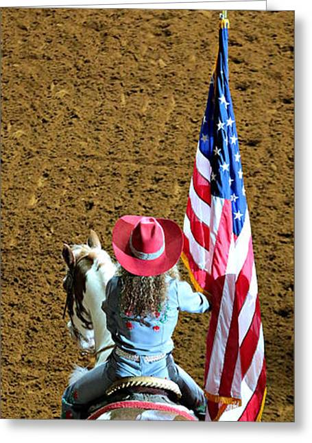 Rodeo Salute Greeting Card by Stephen Stookey