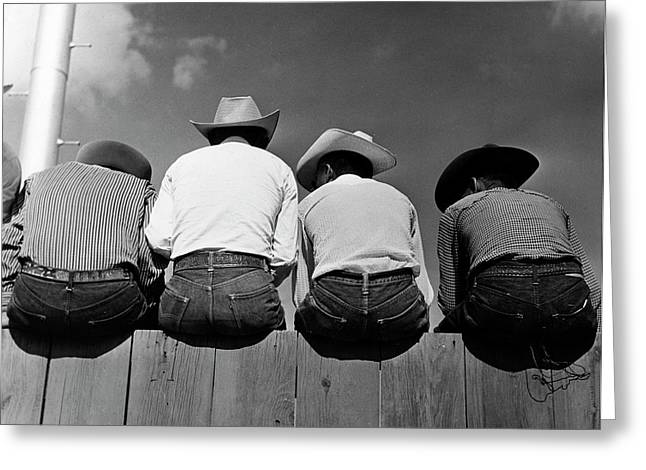Rodeo Spectators Greeting Card