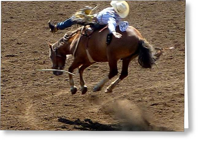 Rodeo Time Bucking Bronco 2 Greeting Card