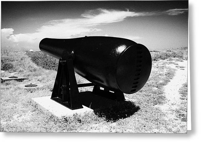 Rodman Civil War Cannon On Terreplein At Fort Jefferson Dry Tortugas National Park Florida Keys Usa Greeting Card