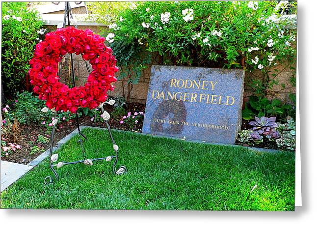Rodney Dangerfield Grave Greeting Card