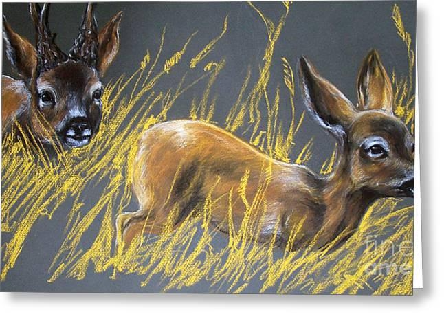 Roe Deer Greeting Card by Angel  Tarantella