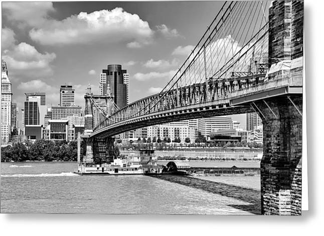 Roebling Bridge Greeting Card by Diana Boyd